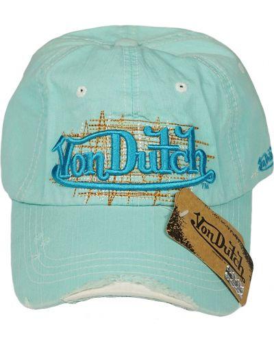 Кепка винтажная - бирюзовая Von Dutch