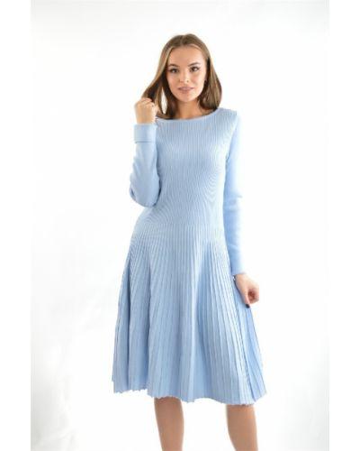 Шерстяное платье - голубое Bgn