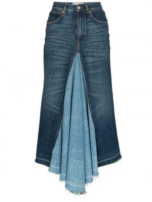 Юбка миди джинсовая с завышенной талией Givenchy