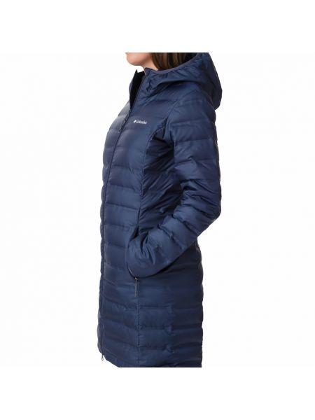 Пуховая черная длинная куртка Columbia