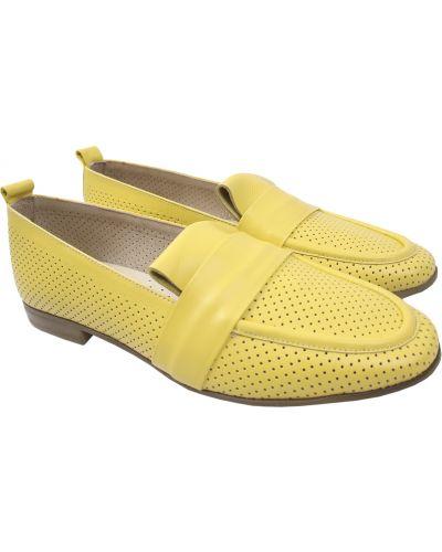 Кожаные туфли - желтые Aquamarin