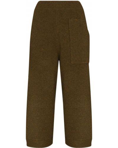 Zielone spodnie wełniane Tibi