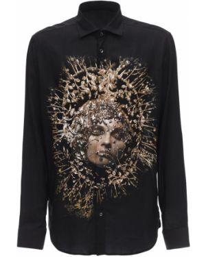 Klasyczna czarna klasyczna koszula Rh45