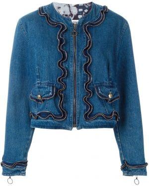 Синяя джинсовая куртка на молнии с манжетами Moschino Pre-owned
