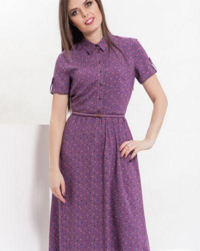 Платье на пуговицах с цветочным принтом Modellos