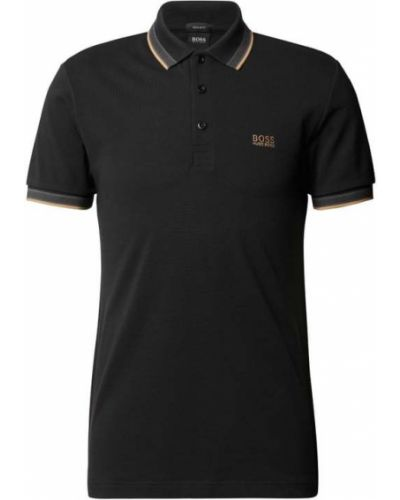T-shirt bawełniana - czarna Boss Athleisurewear
