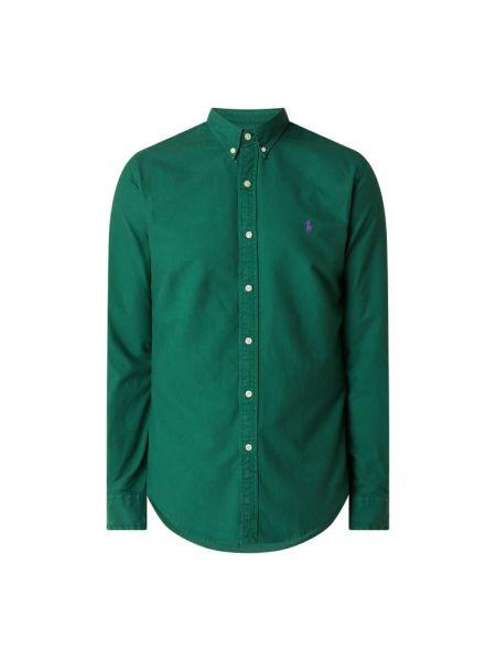 Bawełna puchaty zielony koszula oxford z mankietami Polo Ralph Lauren