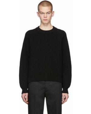 Черный свитер с воротником с рукавом реглан Second/layer