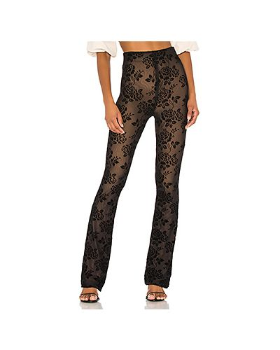 Черные брюки с поясом Majorelle