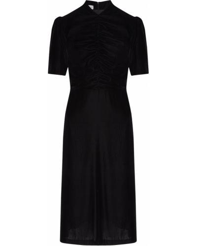 С рукавами пышное черное платье мини ли-лу