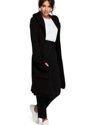 Sweter wełniany - czarny Bewear