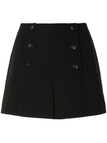 Шерстяные черные с завышенной талией шорты Chanel Pre-owned