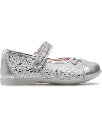 Туфли на липучках - серебряные Pablosky