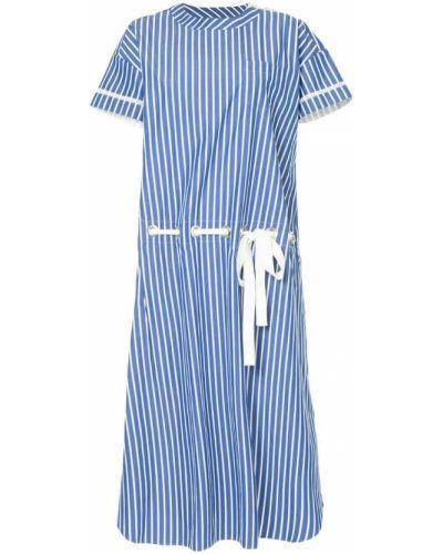 Платье в полоску хлопковое Sacai