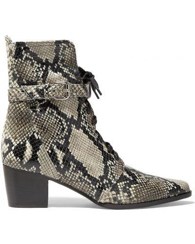 Ankle boots skorzane koronkowe sznurowane Tabitha Simmons