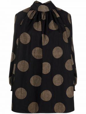 Черная блузка длинная Uma Wang
