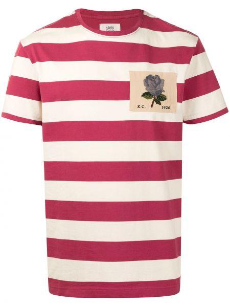 T-shirt w paski bawełniany krótki rękaw Kent & Curwen