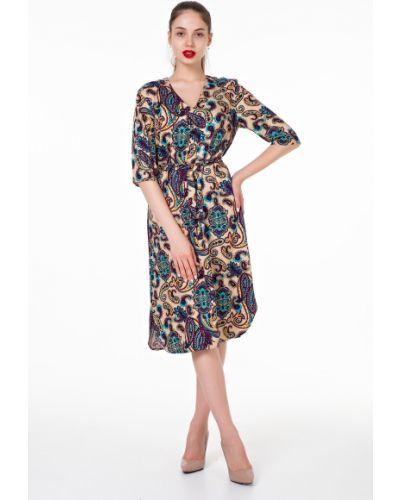 Платье миди из штапеля с поясом Victoria Filippova