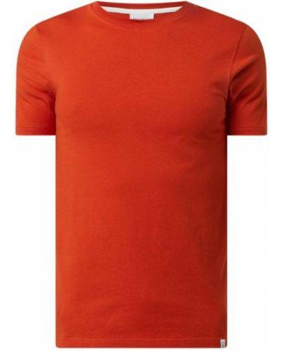 Pomarańczowy t-shirt bawełniany Norse Projects