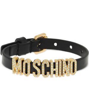 Czarna złota bransoletka klamry Moschino