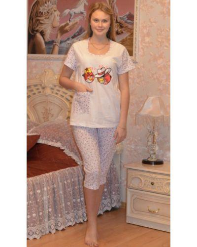 Пижама с бриджами хлопковая Грандсток