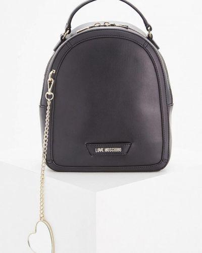 Черный рюкзак Love Moschino