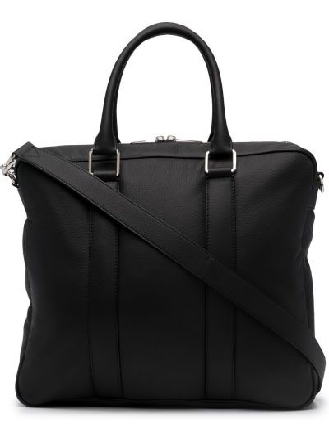 Черный кожаный портфель с карманами Bottega Veneta