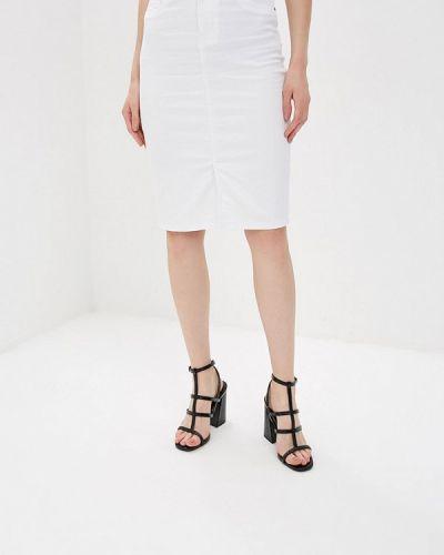 Джинсовая юбка весенняя белый Dorothy Perkins