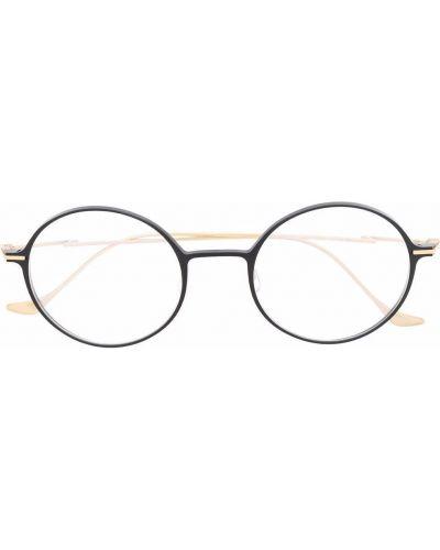 Czarne złote okulary Yohji Yamamoto