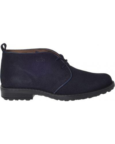 Ботинки замшевые синие Alberto Guardiani