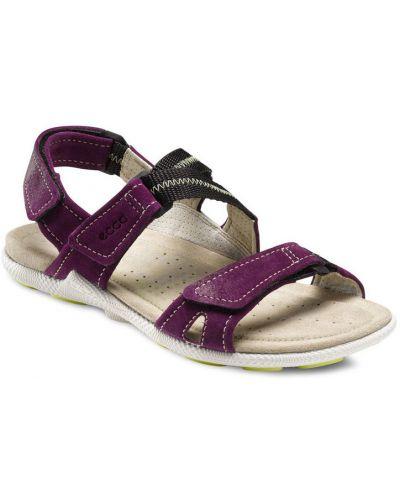 Спортивные сандалии фиолетовый на каблуке Ecco