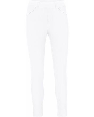 Белые джинсы со стразами Bonprix