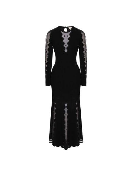 Платье на молнии шелковое Alexander Mcqueen
