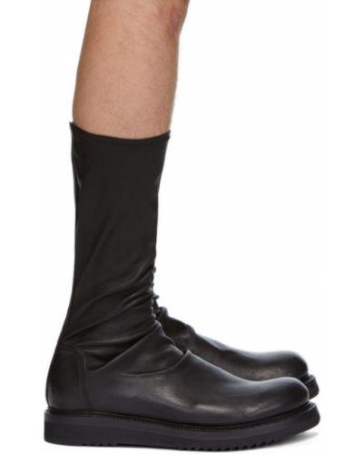 Czarne wysoki skarpety na platformie Rick Owens