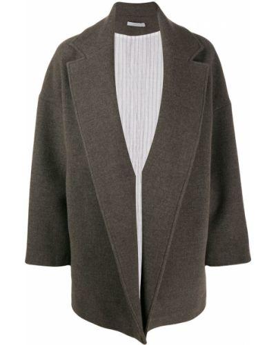 Коричневая длинная куртка Dusan