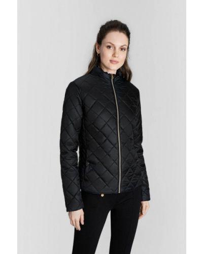 Теплая черная утепленная куртка O'stin