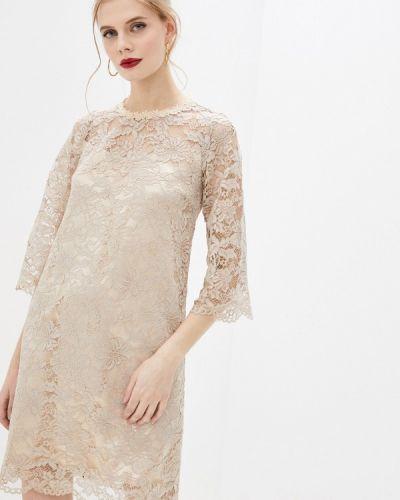 Бежевое вечернее платье мадам т