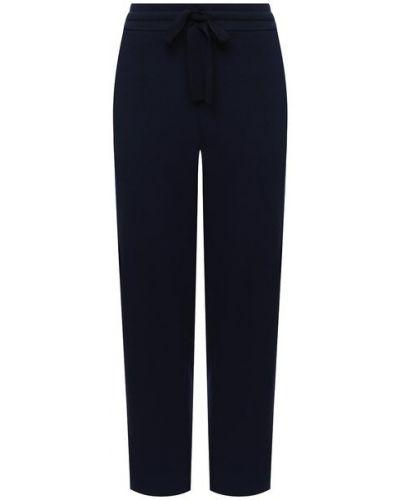 С кулиской синие нейлоновые брюки с поясом St. John