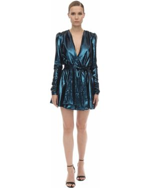 Платье мини с пайетками с V-образным вырезом Amen.