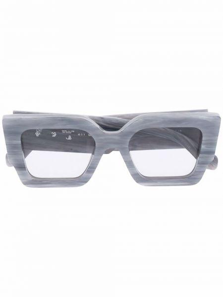 Białe złote okulary Off-white