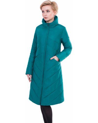 Пальто с капюшоном трапеция с воротником с карманами J-splash