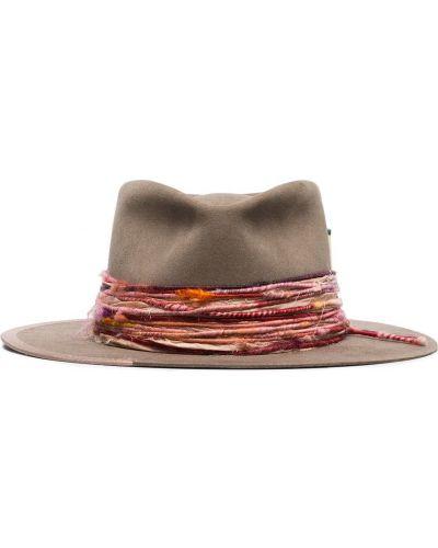 Фетровая розовая шляпа-федора Nick Fouquet