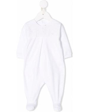 Biały body z długimi rękawami bawełniany Baby Dior