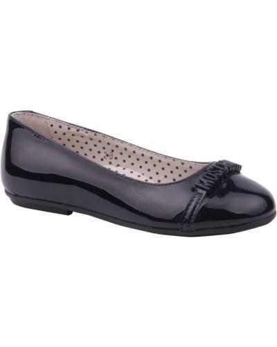 Синие туфли лаковые Moschino