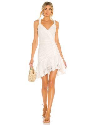 Белое вечернее платье с подкладкой на молнии Bcbgmaxazria