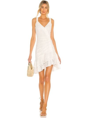 Biała sukienka mini Bcbgmaxazria