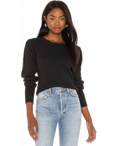 Ватный хлопковый черный свитер Bobi