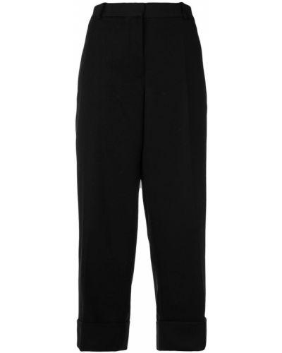 Укороченные брюки с отворотами шерстяные Thom Browne