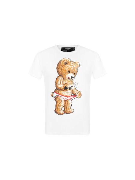 Хлопковая белая футболка Dom Rebel