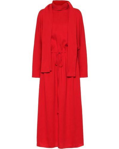 Платье миди из вискозы модерн Valentino